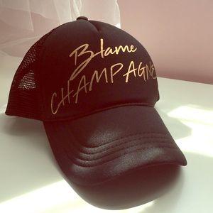 "Express ""Blame Champagne"" Trucker Hat"